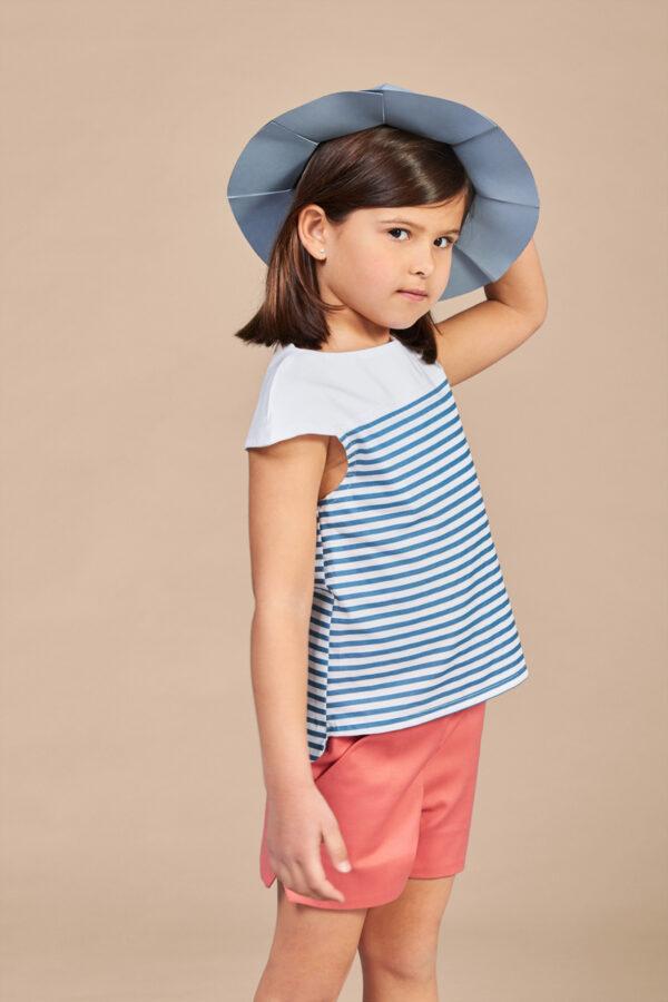 ANNICE SS18 - Blusa manga corta rayas azul