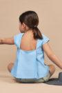 ANNICE SS18 - Blusa pliegues espalda azul